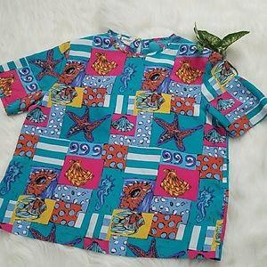 Maggie Barnes size 20W sea patterned blouse